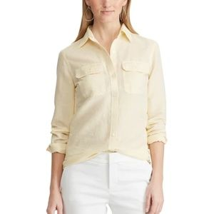 Banana Republic Yellow Linen Shirt